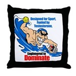 Engineered to DOMINATE Throw Pillow