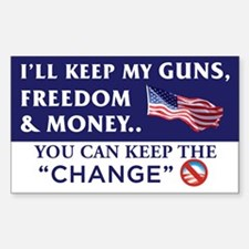 I'll Keep My Guns, Freedom & Money Decal