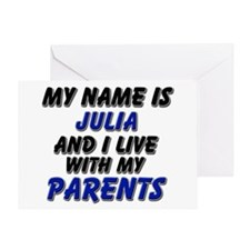 my name is julia and I live with my parents Greeti