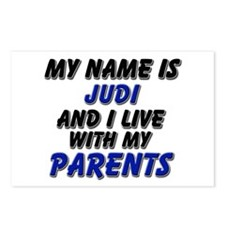 my name is judi and I live with my parents Postcar