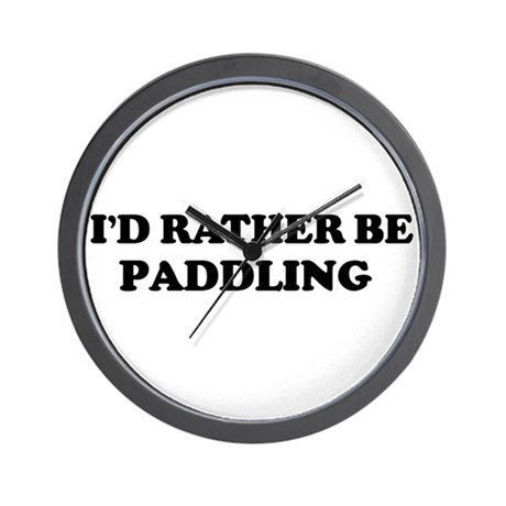 Rather be Paddling Wall Clock
