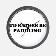 Rather be Paddling Wall Clock