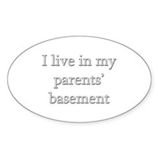 Basement Dweller - Oval Decal
