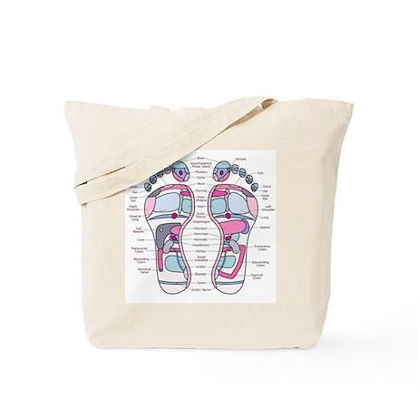 Reflexology Chart Tote Bag 1
