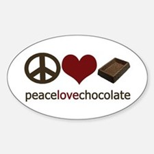 Chocolate Lover Oval Decal