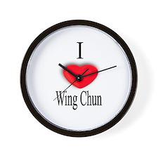 Wing Chun Wall Clock