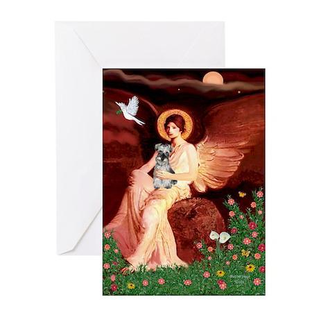 Angel / Min Schnauzer Greeting Cards (Pk of 10)