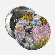 """Garden / Miniature Schnauzer 2.25"""" Button"""