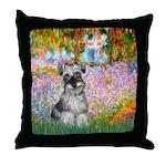 Garden / Miniature Schnauzer Throw Pillow