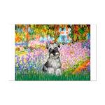 Garden / Miniature Schnauzer Mini Poster Print
