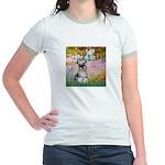 Garden / Miniature Schnauzer Jr. Ringer T-Shirt