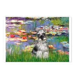Lilies / Miniature Schnauzer Postcards (Package of