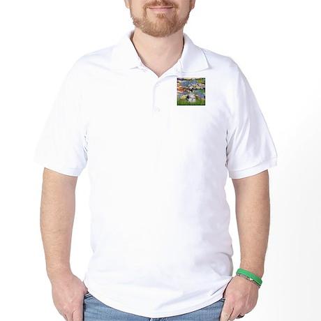 Lilies / Miniature Schnauzer Golf Shirt