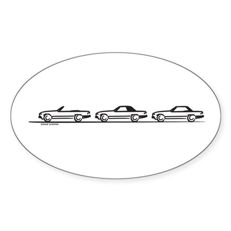 Three SL 107 Oval Sticker (10 pk)
