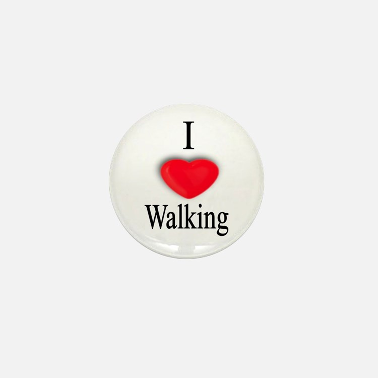 Walking Mini Button (10 pack)