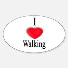 Walking Oval Decal