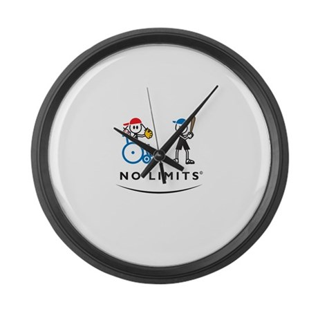 Pitching Girl Large Wall Clock