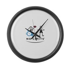 Football Girl Large Wall Clock