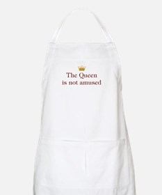 Queen Not Amused BBQ Apron
