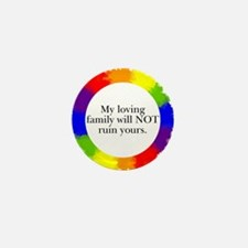 Funny Support equal rights Mini Button