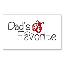 Dad's Favorite Kid Rectangle Decal