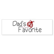 Dad's Favorite Kid Bumper Car Sticker