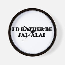 Rather be Jai-Alai Wall Clock