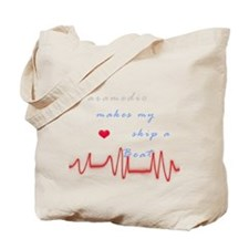 Paramedic Heart Beat Tote Bag