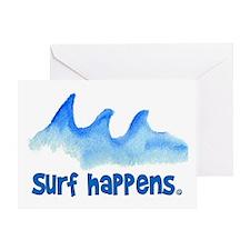 SURF HAPPENS.. Greeting Card