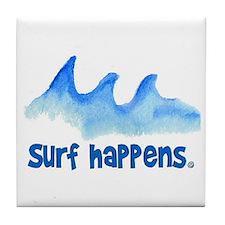 SURF HAPPENS.. Tile Coaster