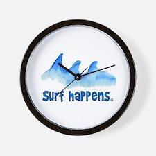 SURF HAPPENS.. Wall Clock