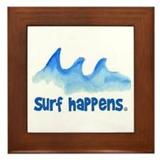 SURF HAPPENS.. Framed Tile