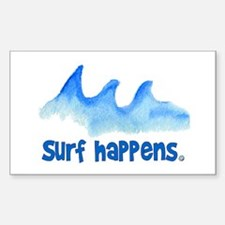 SURF HAPPENS.. Rectangle Decal