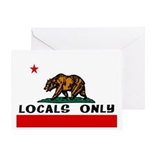 LOCALS ONLY Greeting Card