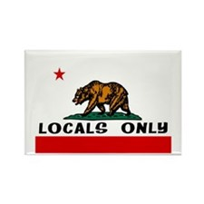 LOCALS ONLY Rectangle Magnet