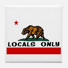 LOCALS ONLY Tile Coaster