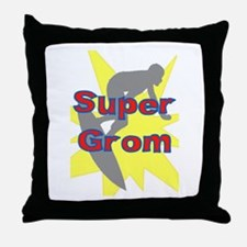 SUPER GROM! Throw Pillow