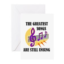 SONGS UNSUNG Greeting Cards (Pk of 10)