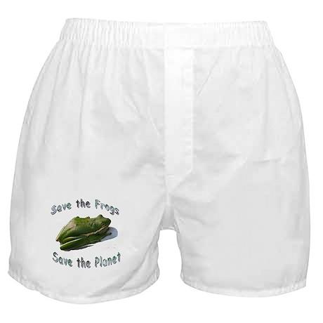 Save Green Treefrog Boxer Shorts