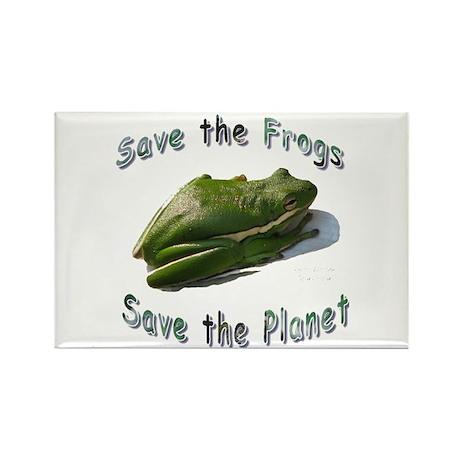 Save Green Treefrog Rectangle Magnet (10 pack)