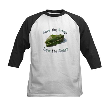Save Green Treefrog Kids Baseball Jersey