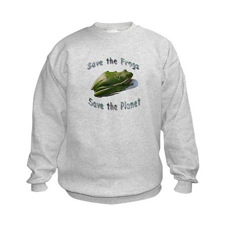 Save Green Treefrog Kids Sweatshirt