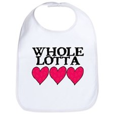 WHOLE LOTTA LOVE (HEARTS) Bib