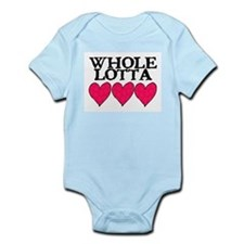 WHOLE LOTTA LOVE (HEARTS) Infant Bodysuit