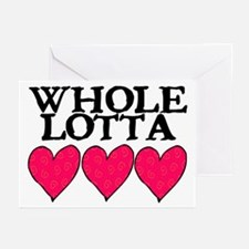 WHOLE LOTTA LOVE (HEARTS) Greeting Cards (Pk of 10