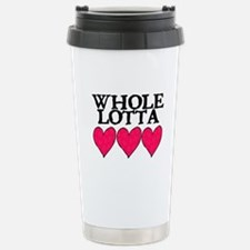 WHOLE LOTTA LOVE (HEARTS) Stainless Steel Travel M