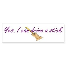 Witch Humor Broomstick Bumper Bumper Sticker