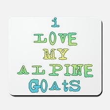 I Love Alpine Goats Mousepad