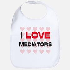 I LOVE MEDIATORS Bib