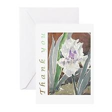 White Iris Thank You Cards (Pk of 10)